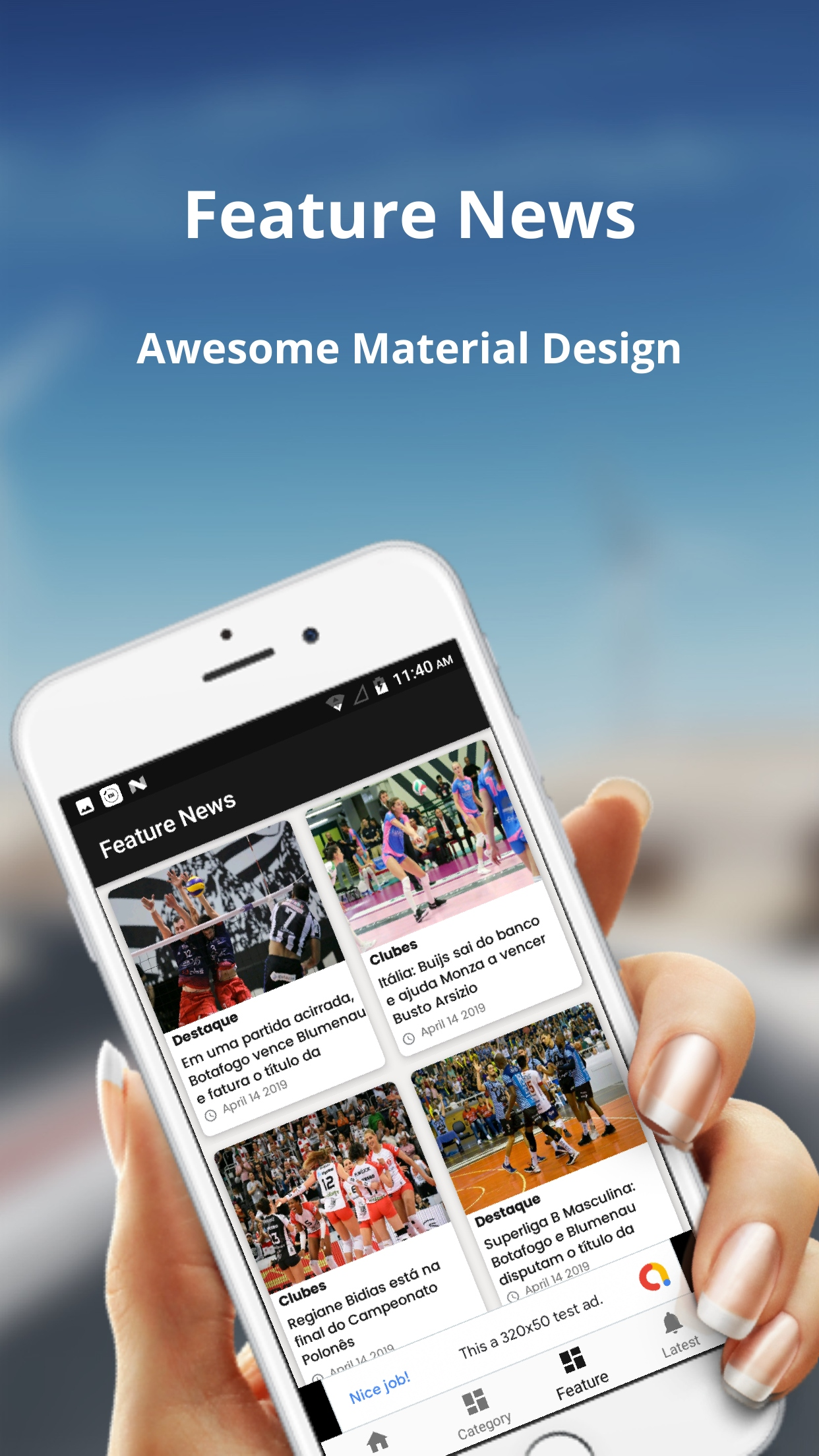 News/Blog - android App - Wordpress Site to Native App ( Admob + OneSignal  + firebase )
