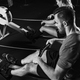 Cross training. Rowing machine exercising - PhotoDune Item for Sale