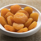 White bowl with dried orange apricot fruit - PhotoDune Item for Sale