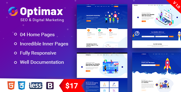 Optimax - SEO & Digital Marketing Agency Bootstrap 4 Template