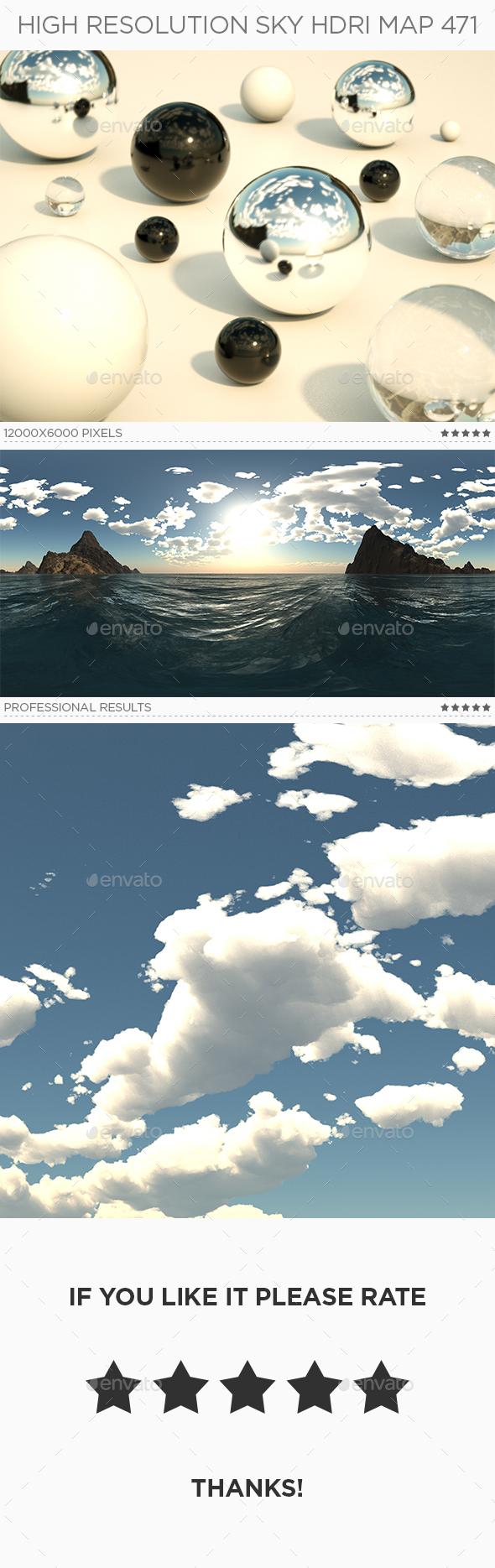 High Resolution Sky HDRi Map 471
