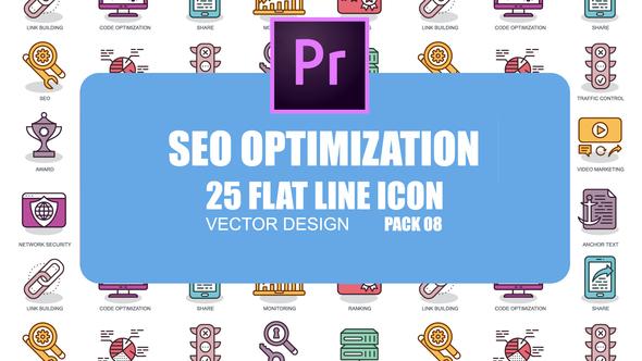 SEO Optimization – Flat Animation Icons (MOGRT)