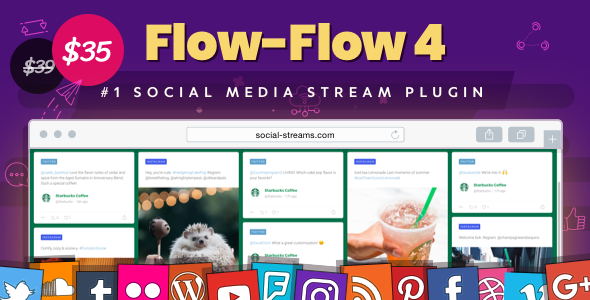 Facebook Instagram Twitter Feed — WordPress Social Stream & Grid Gallery Plugin