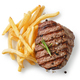 grilled steak and fried potatoes - PhotoDune Item for Sale