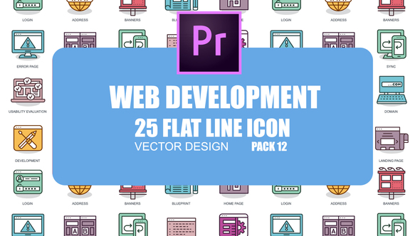 Web Development – Flat Animation Icons (MOGRT)