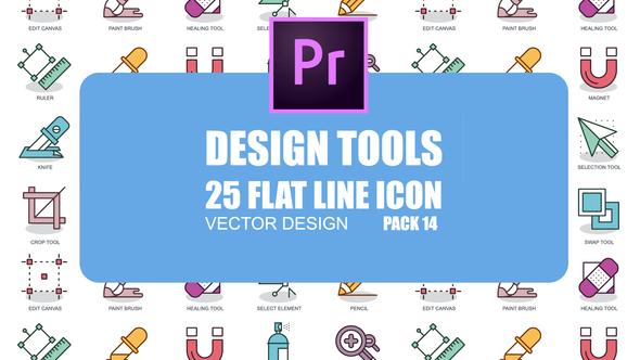 Design Tools – Flat Animation Icons (MOGRT)