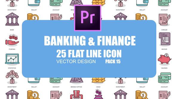 Banking And Finance – Flat Animation Icons (MOGRT)