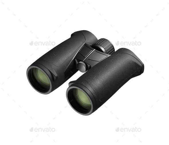 Binoculars isolated on white background - Stock Photo - Images