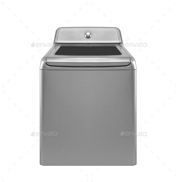 washing machine isolated on white background - Stock Photo - Images