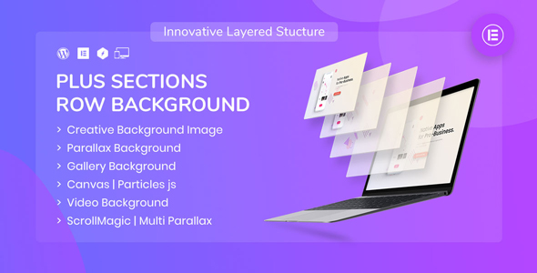 Download PlusSections – Ultimate Parallax | Video | Particles Row Background for Elementor Free Nulled