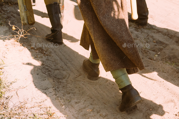 Re-enactors Dressed As World War II Russian Soviet Red Army Sold - Stock Photo - Images