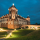Mir, Belarus. Castle Complex Mir In Evening Or Night Illuminatio - PhotoDune Item for Sale