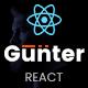 Gunter - React Digital Agency Template - ThemeForest Item for Sale