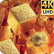 Golden Glow Light Backdrop 4k - VideoHive Item for Sale