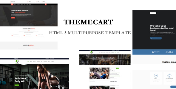 Themecart-  Multipurpose  HTML5 Responsive One / Multi Page Templates.
