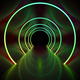 neon light circles tunnel background - PhotoDune Item for Sale