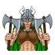 Viking Female Gladiator Warrior Woman Team Mascot - GraphicRiver Item for Sale