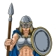 Viking Trojan Spartan Celtic Warrior Knight Woman - GraphicRiver Item for Sale