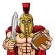Spartan Trojan American Football Sports Mascot - GraphicRiver Item for Sale