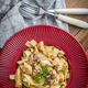 Tagliatelle pasta with forest mushrooms and chicken. - PhotoDune Item for Sale