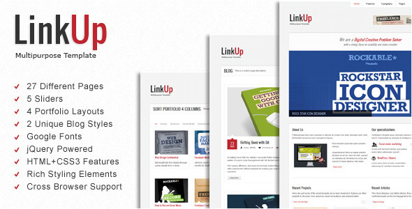 LinkUp Multipurpose HTML Template - Creative Site Templates
