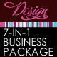 7 in 1 Design Stripe Business Package Templates - GraphicRiver Item for Sale