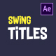 Funny Swing Titles - VideoHive Item for Sale