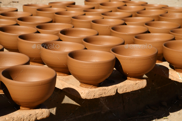 Handmade pottery - Stock Photo - Images