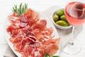 Spanish jamon, prosciutto and wine glass - PhotoDune Item for Sale