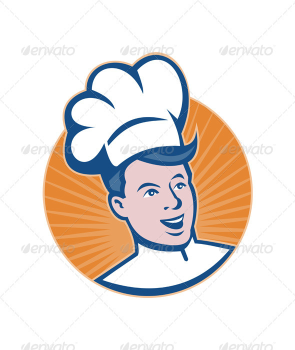 Chef Cook Baker Retro - People Characters