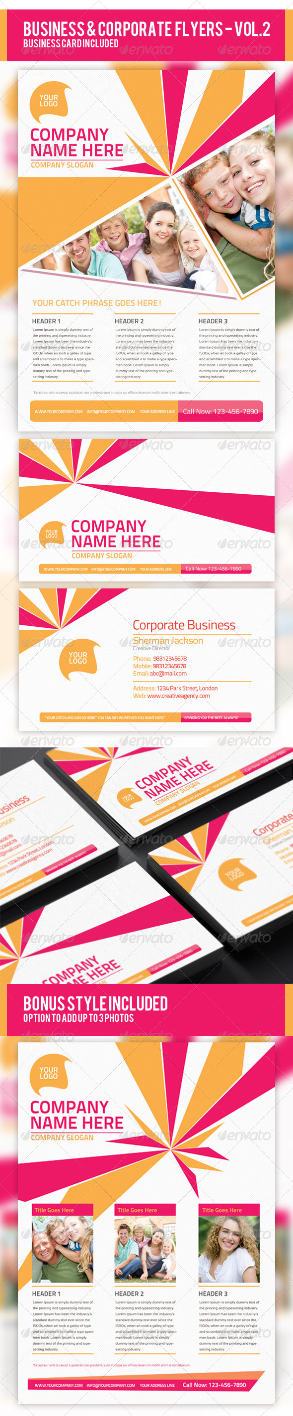 Business & Corporate Flyer PSD Templates - Corporate Flyers