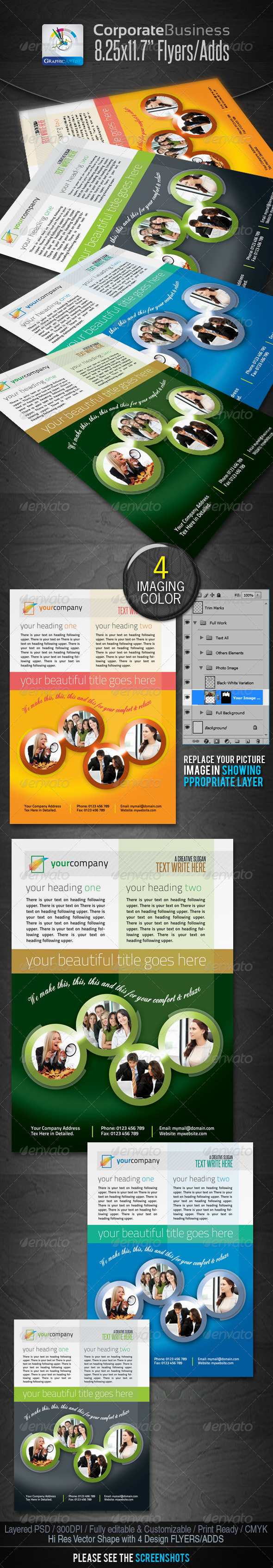Corporate Standard Business Flyers/Ads - Corporate Flyers