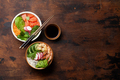 Poke bowl with salmon, shrimps and vegetables - PhotoDune Item for Sale