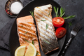 Grilled salmon fish fillet - PhotoDune Item for Sale
