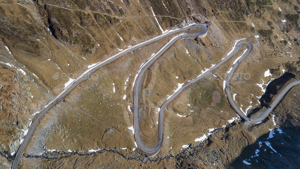 Transfagarasan highway in Romania - Stock Photo - Images