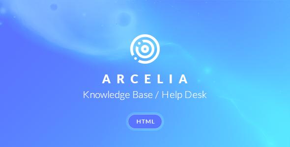 Arcelia — Knowledge Base / Help desk. HTML Template