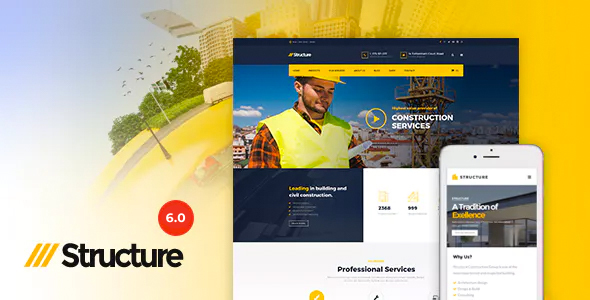 Download Structure – Construction Industrial Factory WordPress Theme Nulled