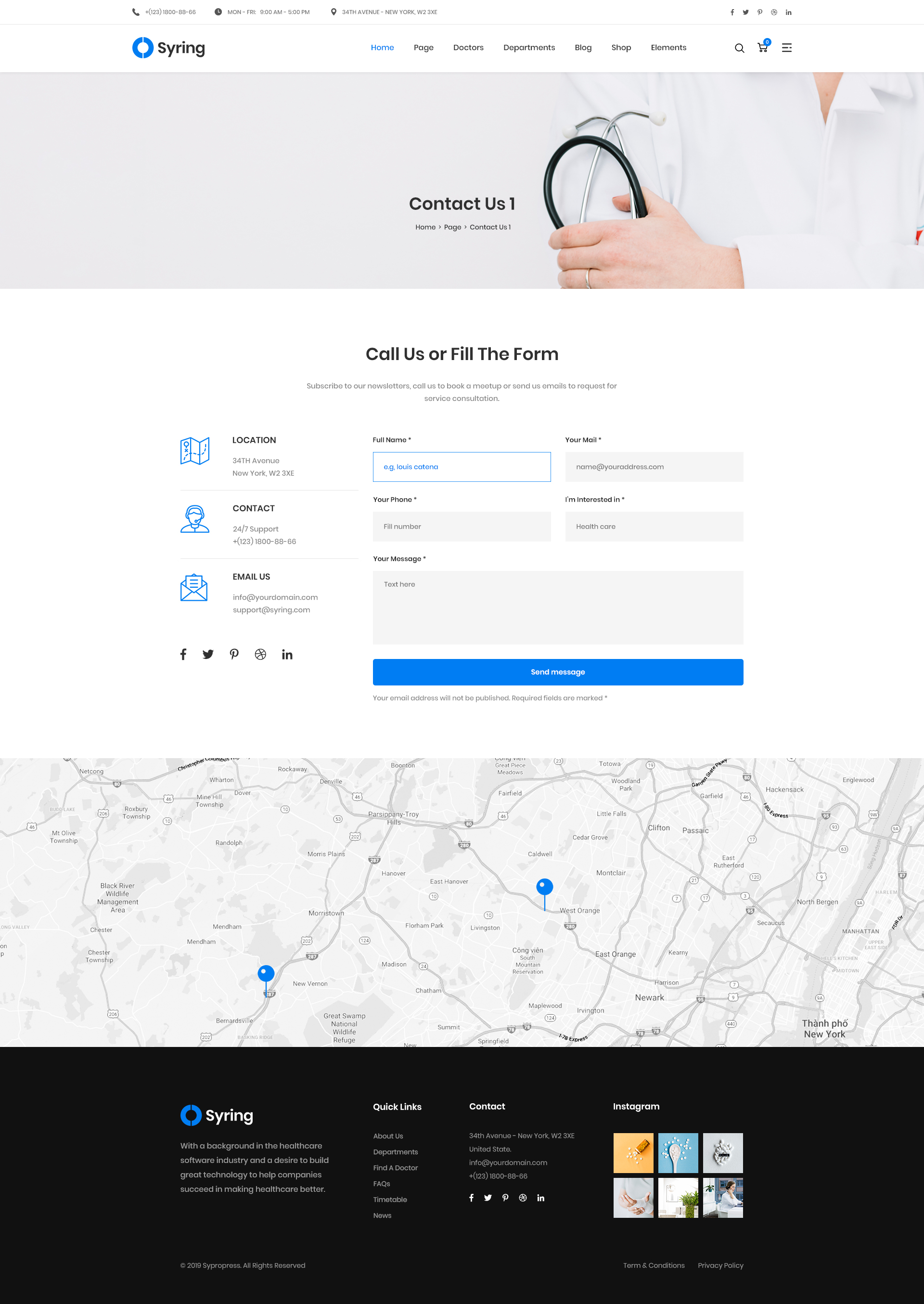 Syring - Health Medical Clinic PSD Template