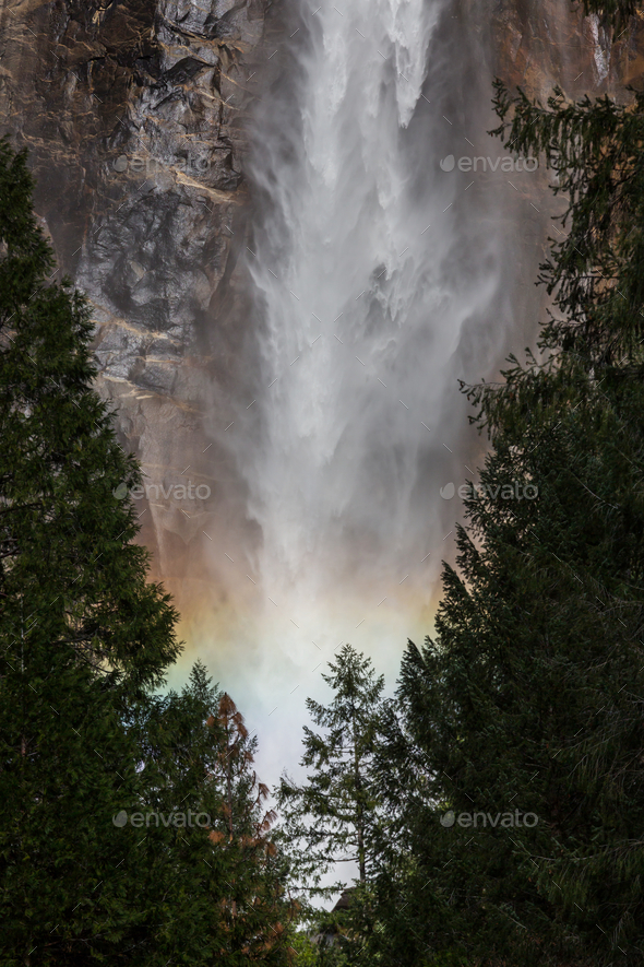 Yosemite waterfall - Stock Photo - Images