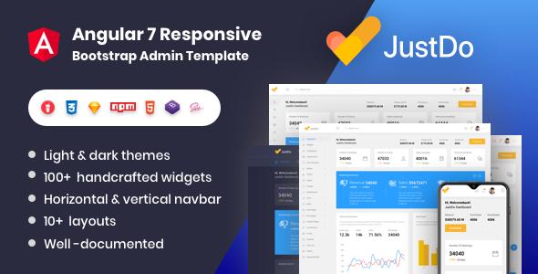 JustDo - Angular 8 Responsive Bootstrap Admin Template
