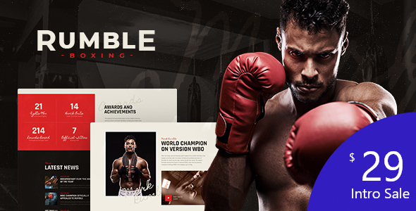 Rumble | Boxing & Mixed Martial Arts WordPress Theme
