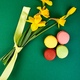 French delicacy, macaroons colorful with spring blossom - PhotoDune Item for Sale