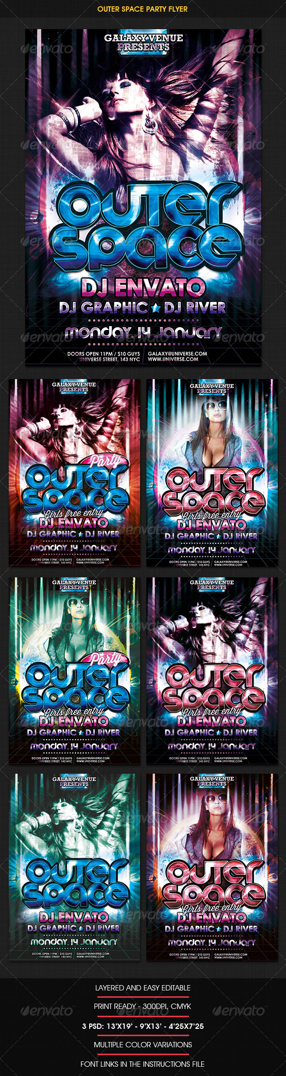 Dance Disco Party Flyer - Clubs & Parties Events