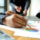 Office staff team is brainstorming on job analysis. - PhotoDune Item for Sale