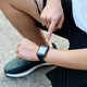 Runners are setting smartwatch applications. - PhotoDune Item for Sale