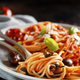 Spaghetti with tomato sauce olives and capers - PhotoDune Item for Sale