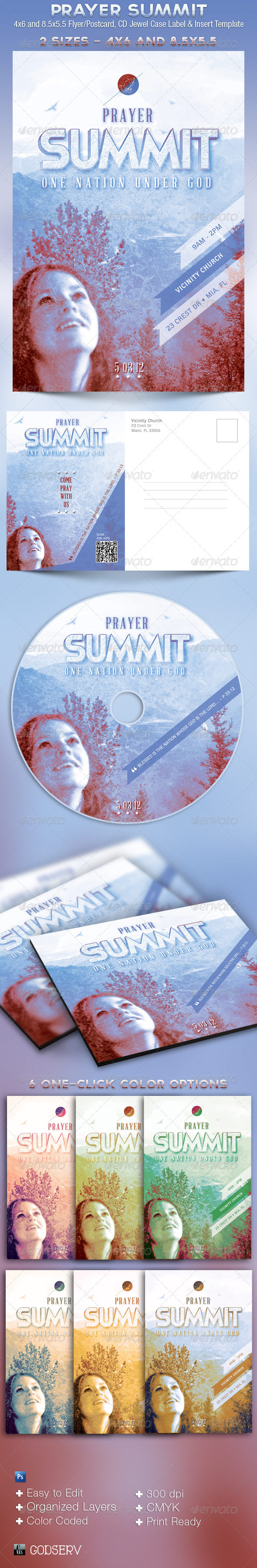 Prayer Summit Church Flyer CD Template - Church Flyers