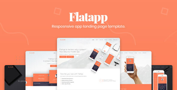 FlatApp - App Landing Page by DynamicLayers