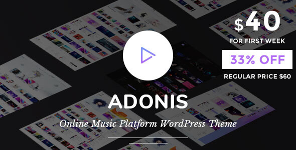 Adonis | Music Platform WordPress Theme