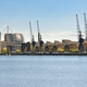 Panoramic view of houses at Royal Victoria Dock in London - PhotoDune Item for Sale